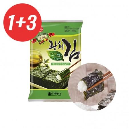 KWANGCHEON KWANGCHEON 1+3 KWANGCHEON gewürzte Nori mit Olivenöl & grünem Tee 25g(MHD : 30/09/2021) 1