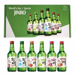 HITE JINRO JINRO Soju Set A (Erdbeer, Trauben, Grapefruit, Pflaumen, fresh, Original) 2140ml 1