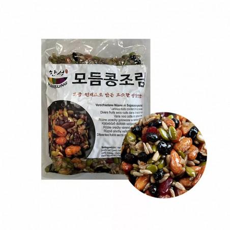 HANSUNG (TK) (K-FOOD) Verschiedene Nüsse in Sojasauce gekocht 1kg 1
