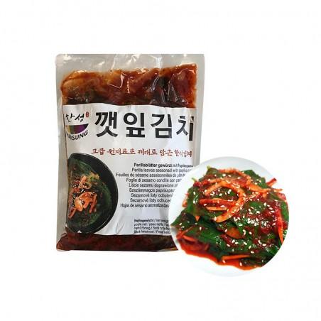HANSUNG (TK) (K-FOOD) Sesamblätter gewürzt mit Paprikapaste1kg 1
