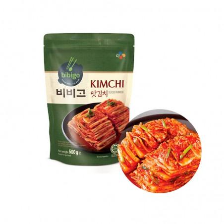 CJ BIBIGO (Kühl) CJ BIBIGO Kimchi geschnitten 500g (MHD : 17/12/2022) 1