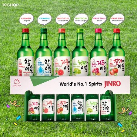 HITE JINRO JINRO Soju Set (Erdbeer, Trauben, Grapefruit, Pflaumen, Fresh, Original) 2140ml 1