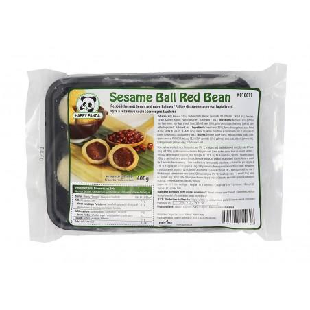 HAPPY PANDA HAPPY PANDA (FR)Sesame Ball Happy Panda with Red Bean Paste MAL 400g(BBD : 28/05/2021) 1