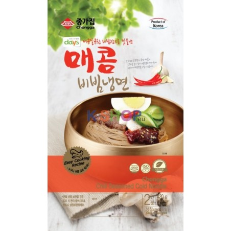CHUNGSU JONGGA (Kühl) Jongga Kaltnudeln mit Scharf Sauce 420g 1