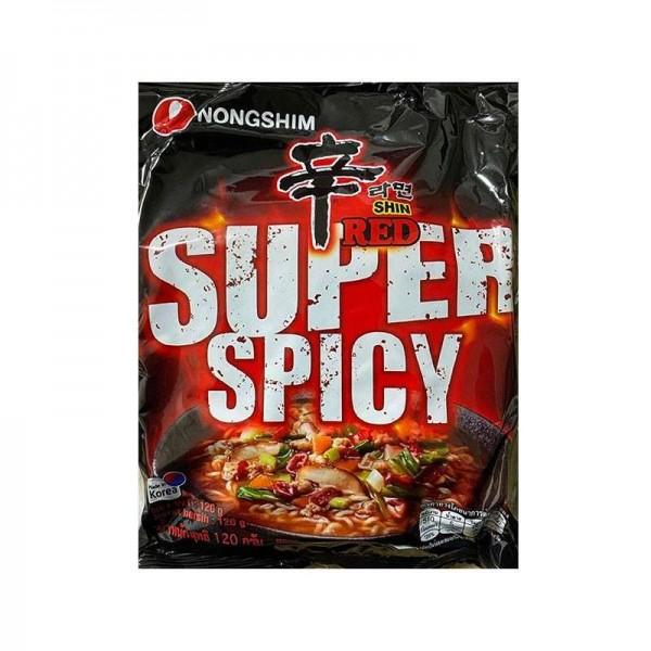 NONG SHIM NONG SHIM NONGSHIM Instant Noodle Shin Ramen Red super spicy 120g 1