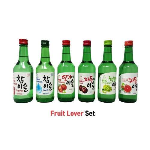 JINRO HITE JINRO Fruit Lover Set - Classic, Fresh, Strawberry, Plum, Green Grape, Grapefruit 1