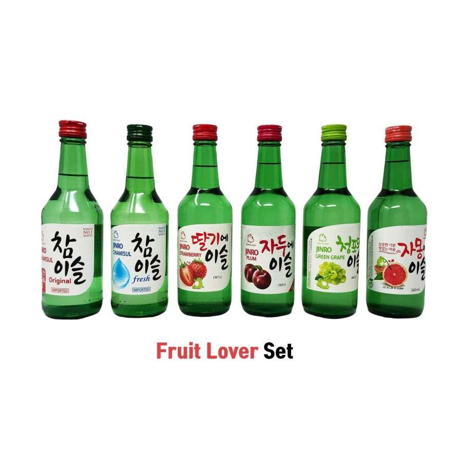 JINRO HITE JINRO Fruit Lover Set - Classic, Fresh, Erdbeer, Pflaume, Traube, Grapefruit 1