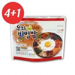 CJ HETBAN  4+1 WOORI Reis Cup mit Kimchi 100g 1