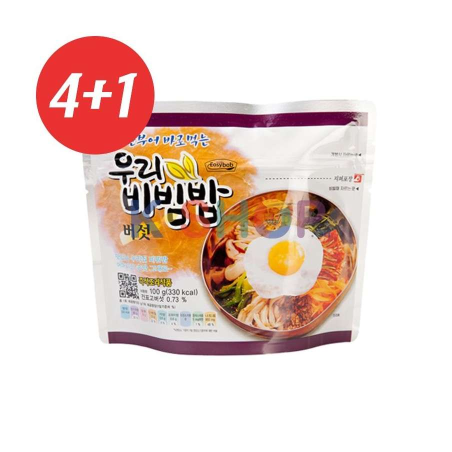 CJ HETBAN EASYBAB 4+1 우리 비빔밥 (전투식량) 버섯맛 100g 1