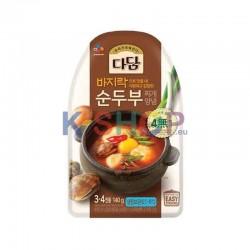 CJ DADAM CJ BEKSUL (냉장) 다담 바지락 순두부 찌개양념 140g 1